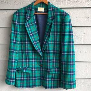Pendleton 1970's Green Academy Blazer Wool